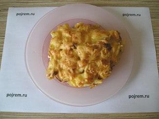 Картофельная запеканка с фаршем и майонезом