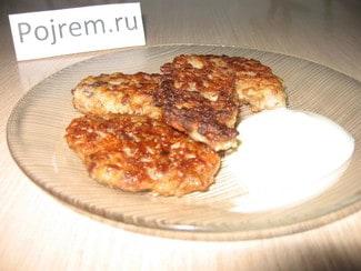 Котлеты из гречки с грибами и фаршем