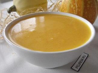 Рисовый суп-пюре с морковью и сливками