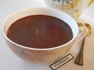 Густой овсяный напиток с какао