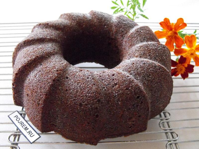 Шоколадный кекс из кабачков