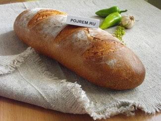 Деревенский хлеб из пшеничной муки