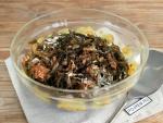 Салат из морской капусты с килькой