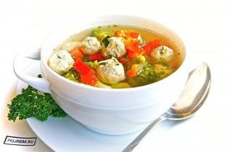 Диетический суп с фрикадельками