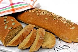 Пшенично-ржаной хлеб на дрожжах в духовке