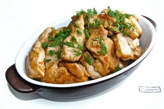 Куриное филе с чесноком