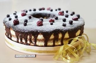 Торт с лимонно-манным кремом