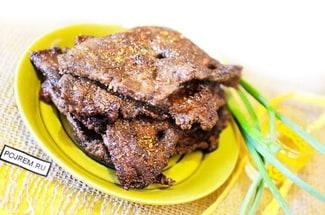 Печень говяжья жареная