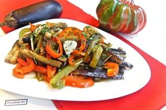 Соте из овощей на сковороде