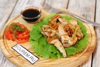 Курица с морковью по-корейски