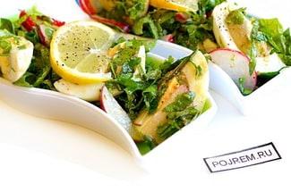 Салат из ботвы редиса