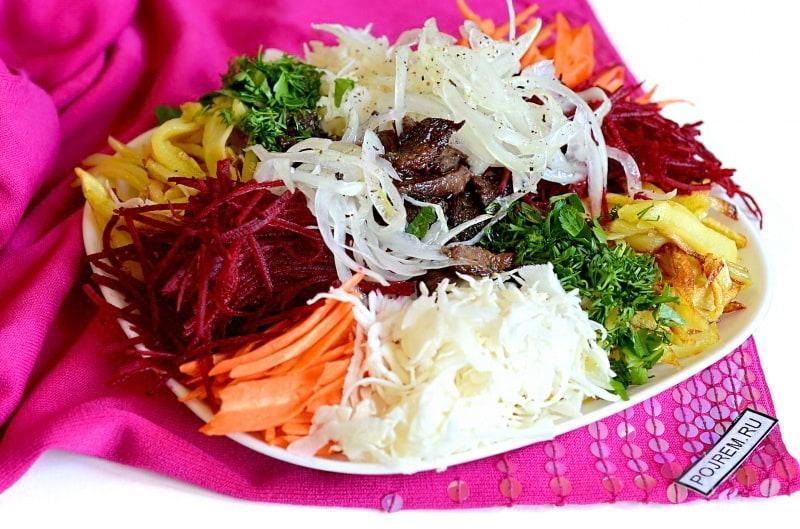 элементом мансарды, салат хан рецепт с фото настенных уличных