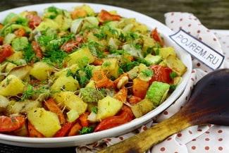 Овощи, запеченные в духовке крупными кусками