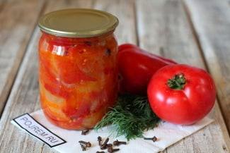 Лечо из болгарского перца, помидоров и лука