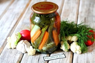 Салат «огород» на зиму