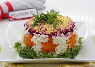 Салат «Селедка под шубой» порционно
