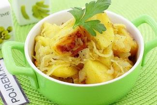 Картошка с квашеной капустой