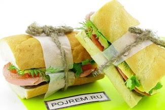 Сэндвич с колбасой