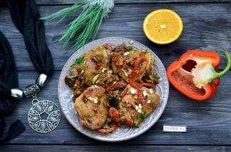 Курица с грецкими орехами