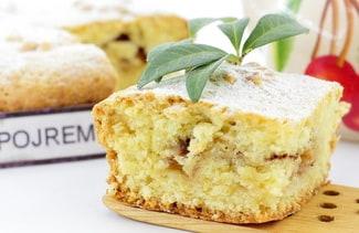 Закрытый пирог с яблоками в духовке