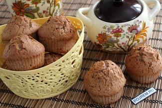 Кексы на шоколадном масле