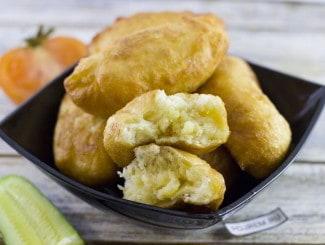 Пирожки с картошкой жареные на сковороде