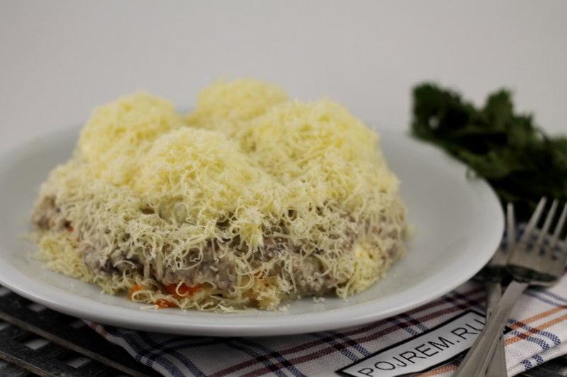 Салат сугробы пошаговый рецепт с фото