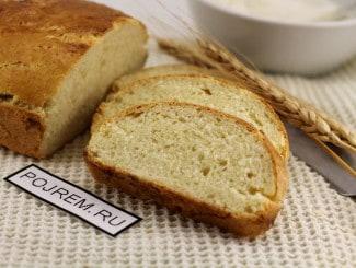Дрожжевой хлеб на кефире в хлебопечке