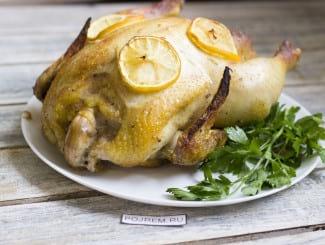 Курица с медом и лимоном в духовке