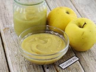 Яблочное пюре из печеных яблок