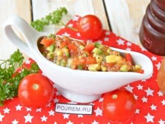 Сальса из авокадо и помидоров