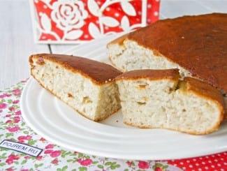 Пирог с кокосовой стружкой на кефире