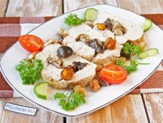 Куриные кармашки с грибами в сливочном соусе