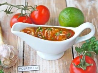 Соус для шашлыка из помидоров и чеснока