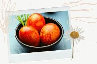 5 простых способов покраски яиц луковой шелухой: кружева, полоски, мрамор. Красиво и натурально!