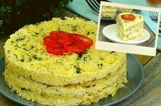 Закусочный торт, который украсит любой праздник. Так вкусно капусту вы еще не готовили