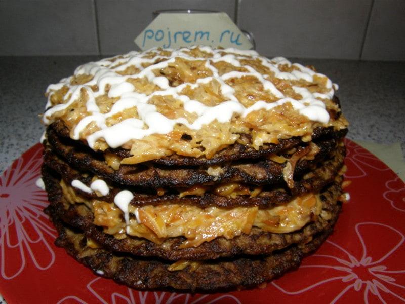 Пошаговый рецепт торта из печени