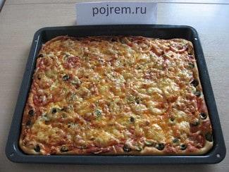 Пицца на быстром тесте