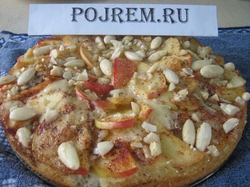 пирог со сладкими яблоками