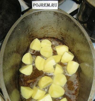 картошка в утятнице с курицей в духовке