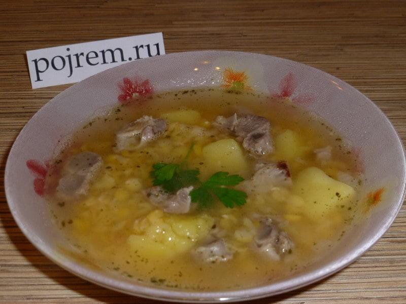 рецепт супа на куриных сердечках