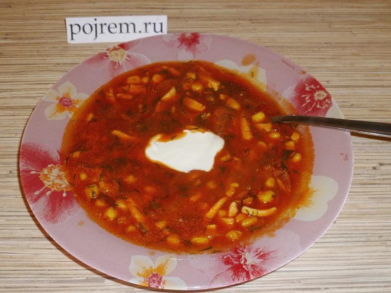 вкусный суп с кукурузой рецепт