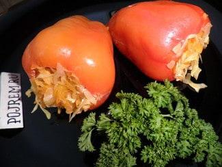 Болгарский перец, фаршированный овощами