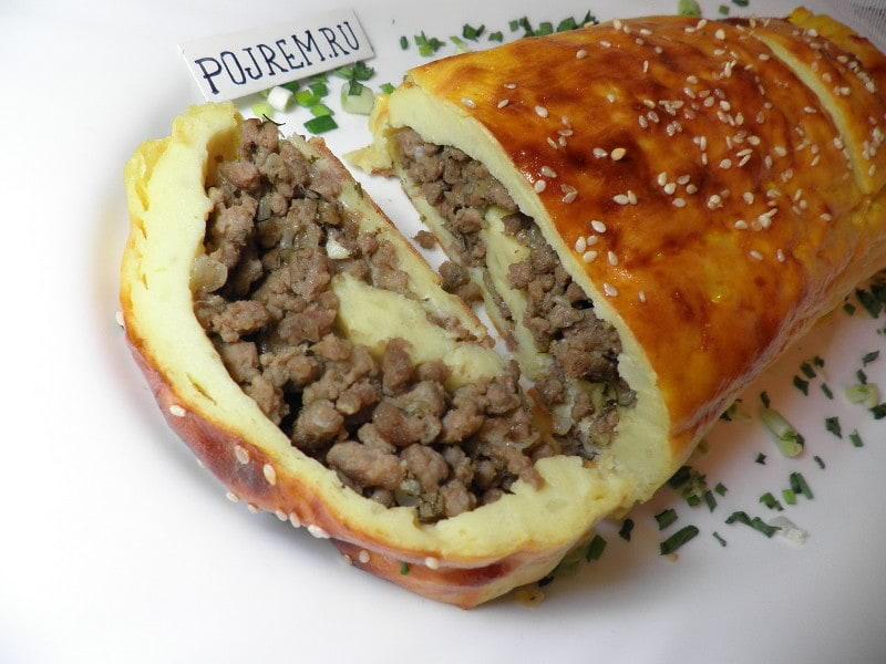 рулет картофельный