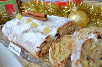 Рождественский кекс с цукатами и творогом