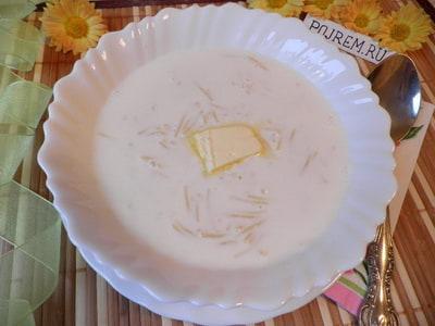 Как варить молочный суп вермишелевый