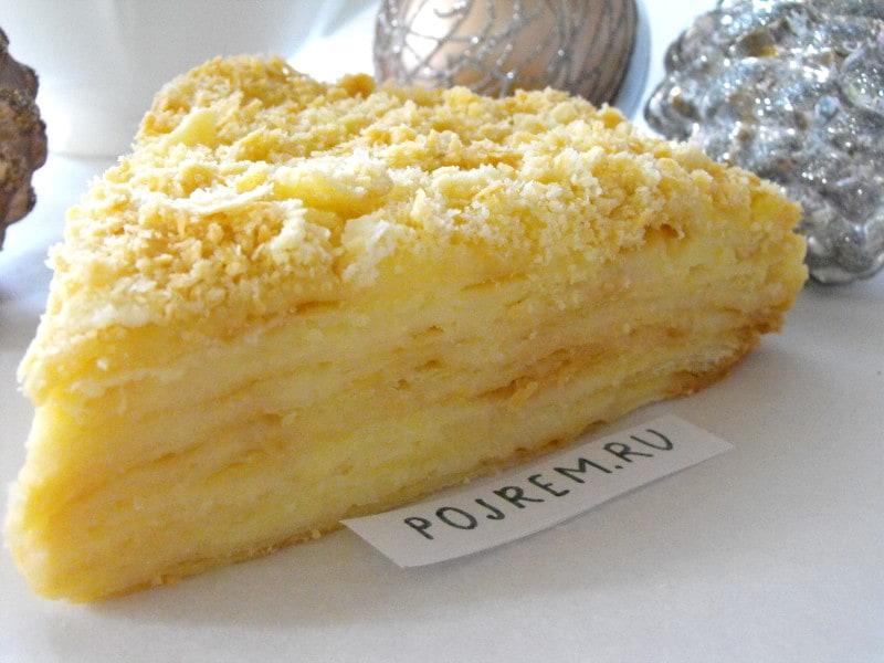 Торт Наполеон со сгущенкой пошаговый рецепт (13 фото) 23