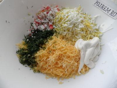 омлет рецепт крабовые палочка фото