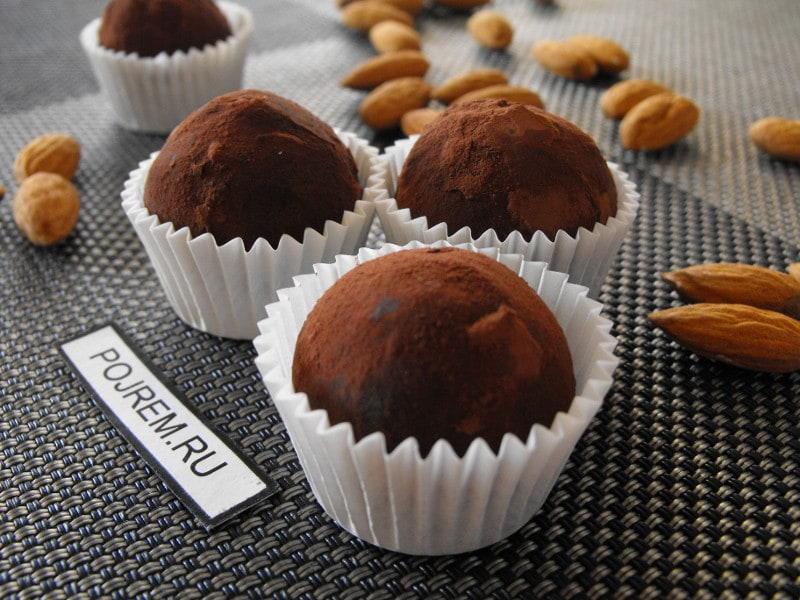 шоколадные конфеты с миндалем