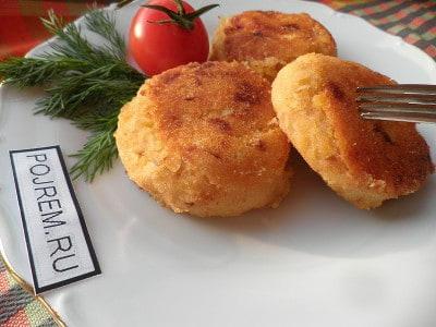 Картофельные котлеты с грибной подливкой пошаговый фото рецепт